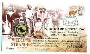 Details about 2019 Welcome Stranger FDC/PNC Overprinted Perth Stamp Show &  Signed 68/150