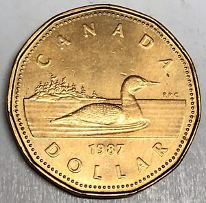 # 7491C    CANADA      COIN,     ONE DOLLAR     1987