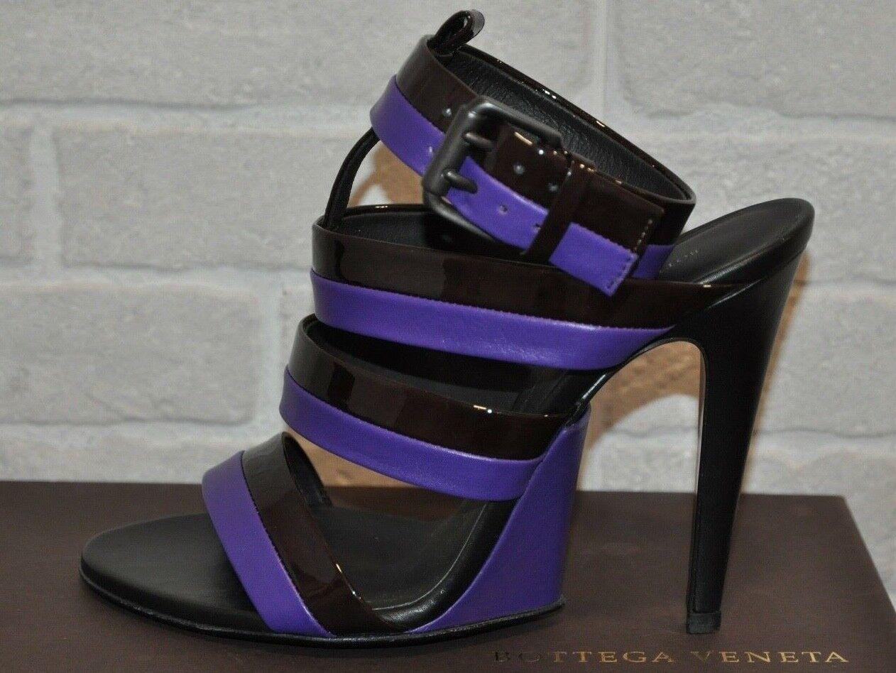 Authentic New Women's Bottega Veneta Strappy Leather Sandals,EU37.5 7.5