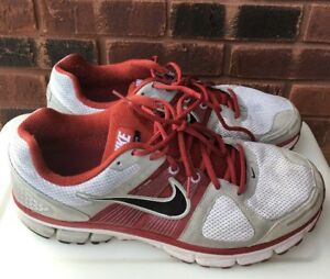 acc6214423f5 Mens Nike Pegasus 28 Flywire Zoom Air Red Gray Size 13 Athletic ...