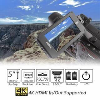 """FOTGA 5/"""" HD de vídeo en cámara Monitor De Campo 1920x1080 Monitor 4K Cámara para DSLR"""