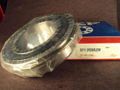 SKF 6211 2RS NR JEM snap ring, Deep Groove Roller Bearing Fag,Fafnir 211PPG