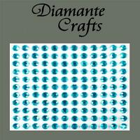 132 x 5mm Turquoise Diamante Self Adhesive Rhinestone Body Vajazzle Gems