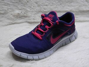 lowest price 6d83c 3768b Details about Nike Free Run 3 Womens Running Shoes Size 8 Trainers Purple  Pink FREE S&H
