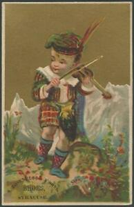 Scottish Boy Sailor Boy Dancing Boy Lot of Three Victorian Trade Cards For Shoes