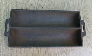 Vintage Wagner Ware Cast Iron Double Loaf Bread Pan Ebay