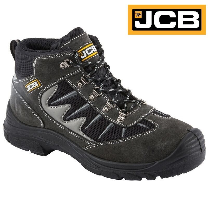 MENS JCB LEATHER LIGHTWEIGHT SAFETY WORK BOOTS STEEL TOE CAP SHOE TRAINERS SZ