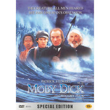 Moby Dick,1998 (DVD,All,New) Patrick Stewart,Gregory Peck
