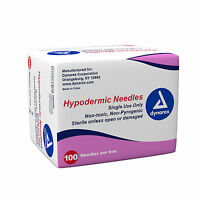 Dynarex Hypodermic Needles Box Of 100, 27g X 1/2