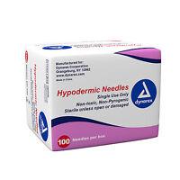Dynarex Hypodermic Needles Box Of 100, 22g X 1 1/2
