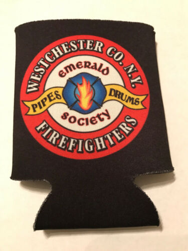 Westchester-Firefighters-Emerald-Society-Pipes-Can-Cooler-Koozie