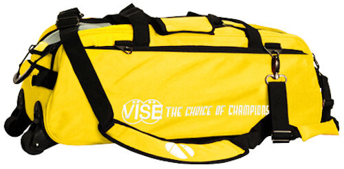 Vise 3 Ball Triple Tote Bowling Bag Yellow