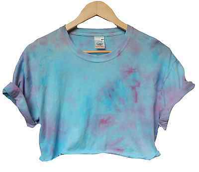 Tie Dye acid crop top Grunge festival Galaxy hipster Indie 90s cropped t shirt