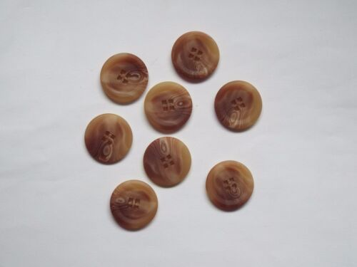 10pc 15 mm Biscotti Beige Synthétique Marron OS Manteau Suit Cardigan Knitwear Bouton 4949
