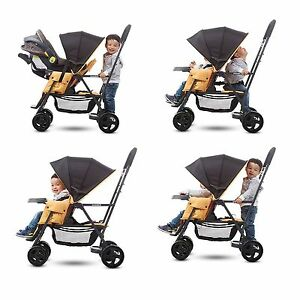 sit and stand stroller infant toddler double kids tandem with car seat adapter 725880271325 ebay. Black Bedroom Furniture Sets. Home Design Ideas