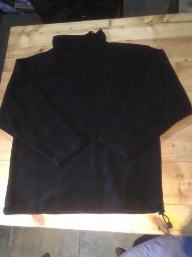 Black High Neck Fleece Jumper XL Warm Cosy