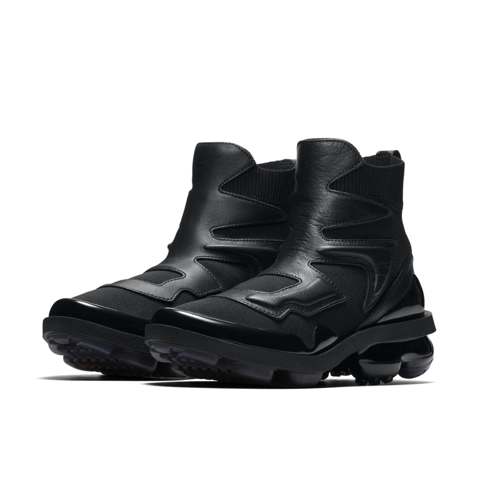 Nike Womens Wmns Wmns Wmns Vapormax Light II 2 Hi Triple Black Fashion shoes AO4537-001 f18279