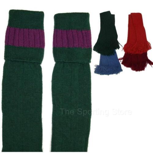 Bisley Tiro Calzini Sock in Oliva//bottiglia con Giarrettiere colorate