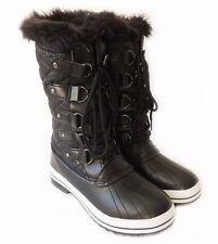 NEW FASHION WOMEN MID-CALF FUR LINED WARM WINTER SNOW BOOTS PAMMY-02 /BLACK
