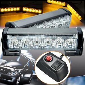 2x6-LED-Car-vehicle-Strobe-Flash-Light-Emergency-Warning-Flashing-Lamp-Amber-12V