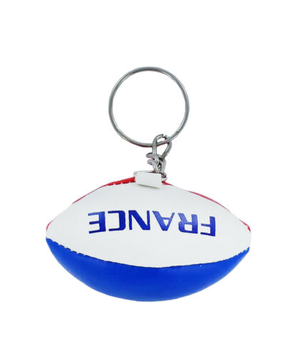 Keychain Mini rugby ball france french key chain ring flag key ring cute