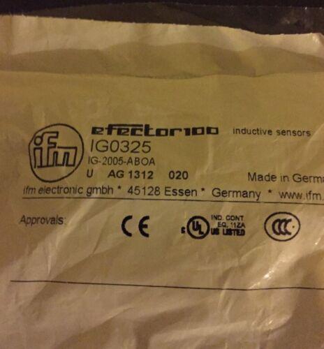 ***NEW*** IFM EFECTOR IGO325 INDUCTIVE PROXIMITY SWITCH IG-2005-ABOA