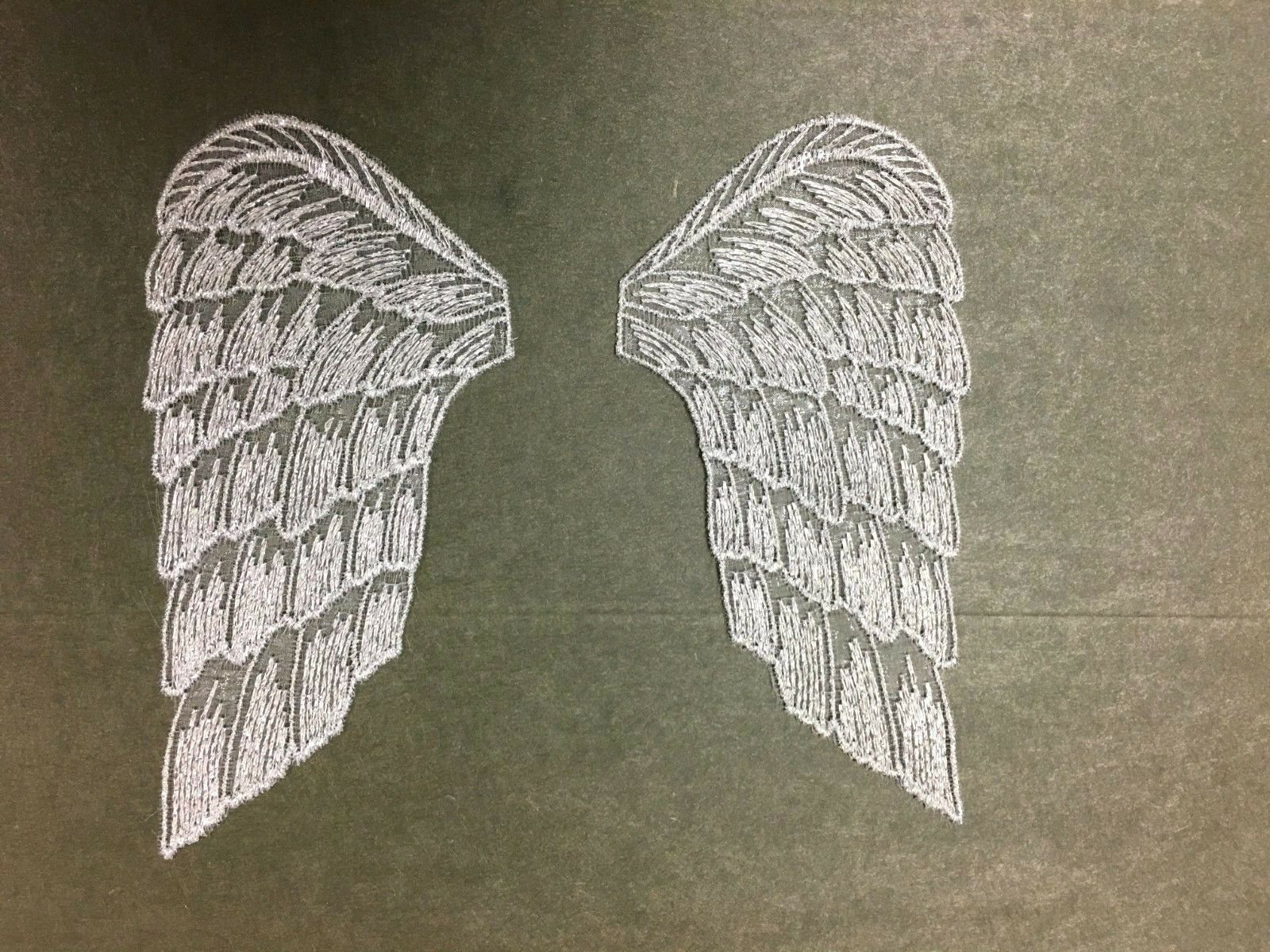 """10 Pair Soft Padded Fabric 3/"""" Gold Angel Wings Christmas Doll Making Crafts"""