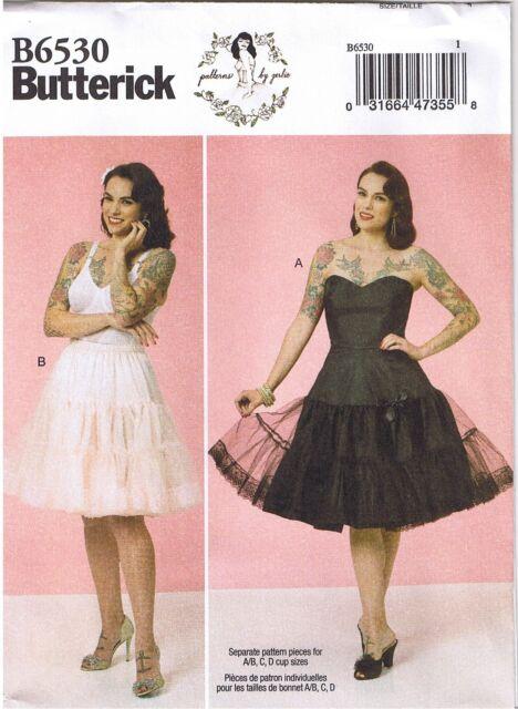0c50cb116004e B6530 Butterick Full Slip & Petticoat Sewing Pattern Sizes 14-22 Retro 1950s