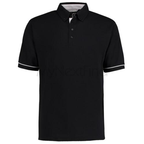 Kustom Kit Button-Down Collar Contrast Polo