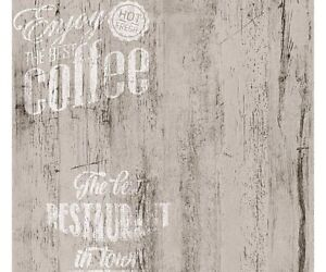 Carta da Parati per cucina | Caffè Legno White - effetto legno di ...