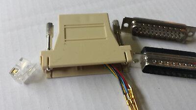 2 Paia Sub D Connettori 25/6 Pin Spina + Giunto Lötbar Installazione O Cavo-mostra Il Titolo Originale