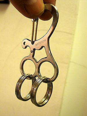 US.Seller  Buckle EDC Hard Stainless Key Holder Organizer Clip Folder Keychain