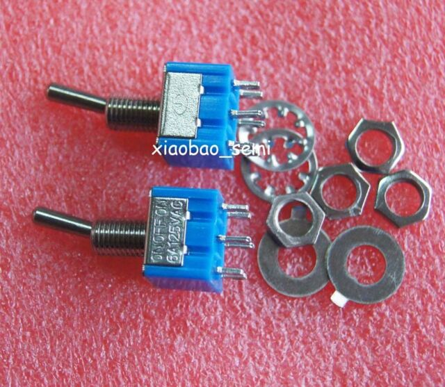 10pcs New Mini MTS-203 6-Pin SPDT ON-OFF-ON 6A 125VAC Toggle Switches