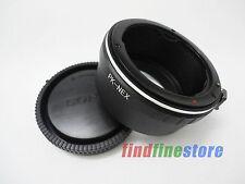 Pentax PK K Lens to Sony E NEX 3 NEX 7 NEX C3 5N a7R a5000 a6000 adapter + CAP