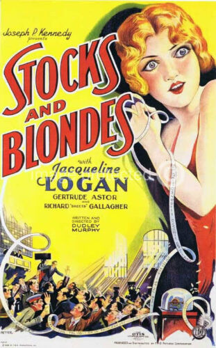 Stocks and Blondes Vintage Movie Poster 24x36