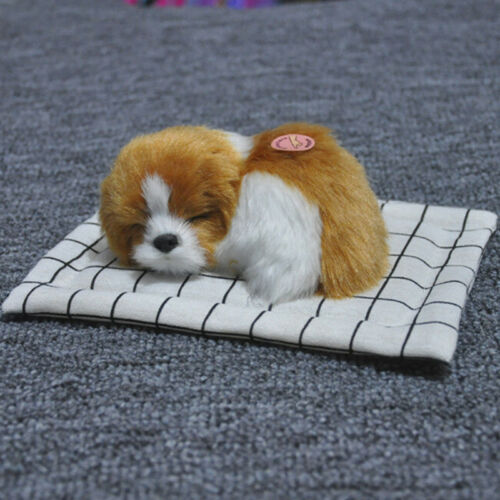 Hot Cute Sleeping Dog Puppy Plush Doll Toys+Sound Stuffed Animal Kids Gift