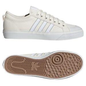 Adidas-ORIGINALS-Homme-NIZZA-LO-Chaussures-Blanc-casse-Skateboard-Toile-Baskets