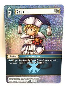 Sage-4-031C-Papier-Alu-Final-Fantasy-Ff-TCG-Opus-IV-4-Simple-Carte