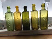 antique bottles pre 1900 UDOLPHO WOLFS Bottle Lot 5 Beautiful Bottles & Colors