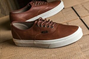 Details about Vans Authentic Brown Leather Potting Soil Mens Womens Skate Shoes Sneakers Sizes