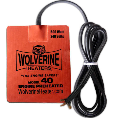 """Wolverine Silicone Pad Chauffage 5 x 7/"""" 500 W 230 V-Moteur Carter D/'Huile Filtre Carburant"""