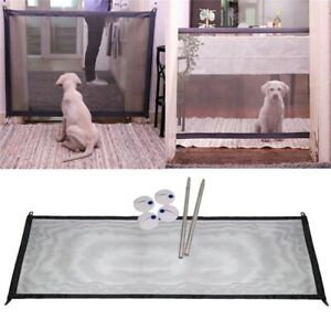 Puerta-Magica-Portatil-Plegable-Seguridad-Guardia-Para-Mascotas-Perro-Gato-V8W2