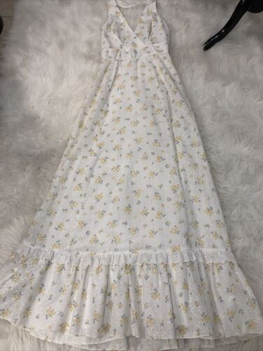 Vintage Candi Jones Cotton Maxi Dress Small