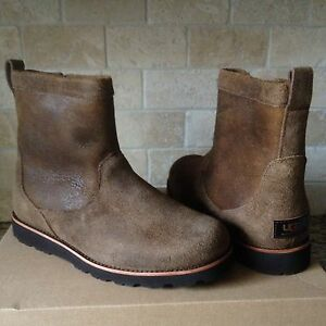 d19f4a6a0c4 Details about UGG HENDREN TL BOMBER CHESTNUT WATERPROOF LEATHER FUR WINTER  BOOTS SIZE 8 MENS