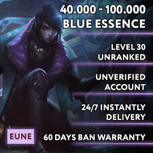 EUNE League of Legends LOL Account 40.000 - 100.000 BE Unranked Smurf Level 30