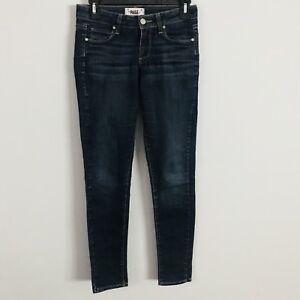 verde blu Jeans ultra taglia donna da 26 skinny scuro lavato Paige FIn8w18q