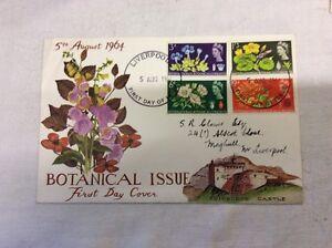 2-x-First-Day-Covers-Botanical-Phosphor-amp-Botanical-Plain-5rh-August-1964