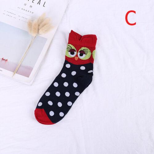 3D Animal Print Cotton Socks Casual Owl Dog Cat Ankle Sock Women Men Fall Spring