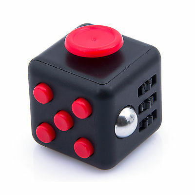 Red Fidget Cube Toy Christmas Gift ! Anxiety Attention Stress Relief For Adults