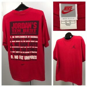 fb583637990 Image is loading Vintage-1980s-Red-Logo-Cotton-Nike-Michael-Jordan-